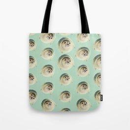 aqua green underwater cute baby sea lion seal Tote Bag