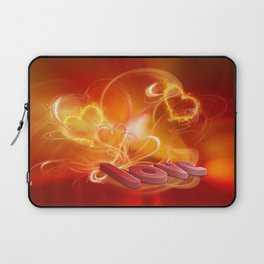 Flammende Liebe - Flaming Love Laptop Sleeve