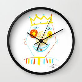 Pablo Picasso Le Clown (The Clown) Artwork Reproduction, tshirt, tee, jersey, poster, artwork Wall Clock