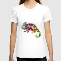 chameleon T-shirts featuring Chameleon by RAW-CUT
