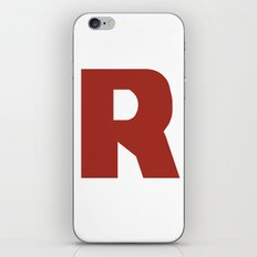 Letter R on White iPhone Skin
