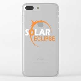 The Great American Eclipse Clear iPhone Case