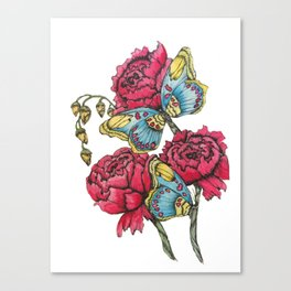Color Flutter II Canvas Print