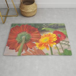 Bunch Of Colorful FLowers  Rug