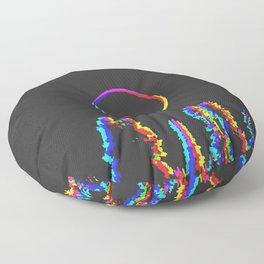 CMYK in RGB Moon in Forest Floor Pillow