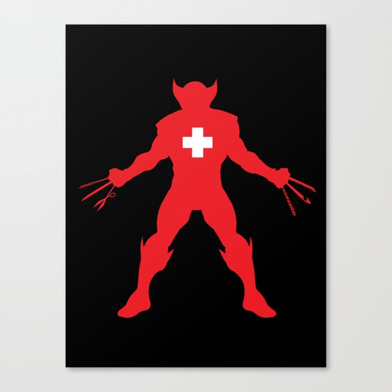 Weapon-Swiss Canvas Print