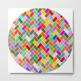 Colourful Tiled Mosaic Pattern Metal Print