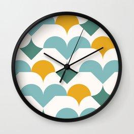 Geometric modern abstract pattern 03 Wall Clock