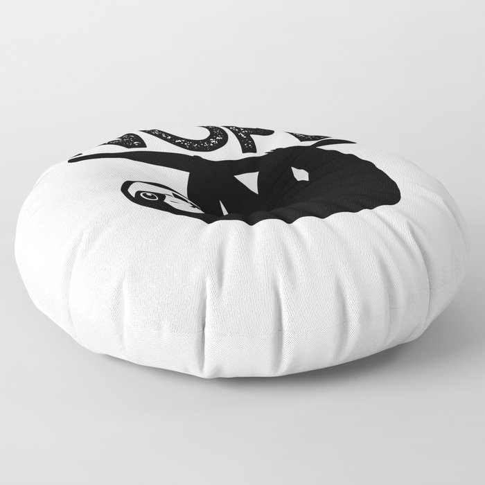 lazy sloth nope Floor Pillow