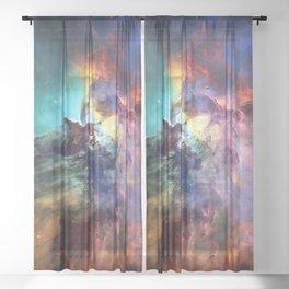 Lagoon Nebula Sheer Curtain