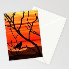 Blackbird's dusk Stationery Cards