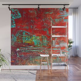Aztec Fossil Painting Series Wall Mural