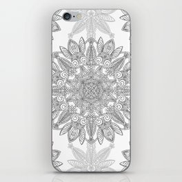 Silver Mandala iPhone Skin