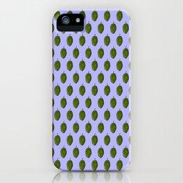 Hops Light Blue Pattern iPhone Case