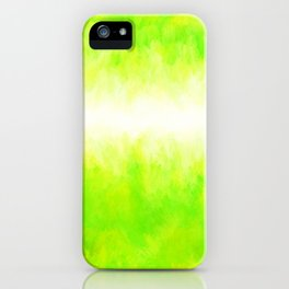 Neon Lemon Lime Abstract iPhone Case