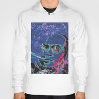 hunter s thompson Hoodies featuring Hunter S. Thompson by Kori Levy illustration & design
