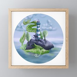 Sea Serpent  Framed Mini Art Print