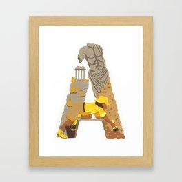 A as Archaeologist Framed Art Print