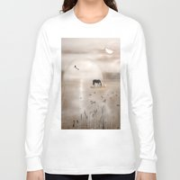 seahorse Long Sleeve T-shirts featuring Seahorse by Laake-Photos