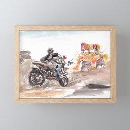 PUBG Motorbike Battlegrounds Framed Mini Art Print
