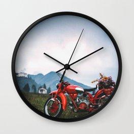 Moto Guzzi indie tribute Wall Clock