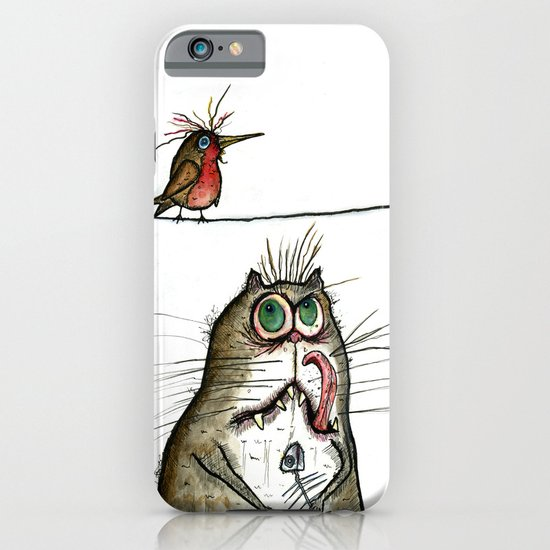 A Cat ponders, fish or poultry? iPhone & iPod Case