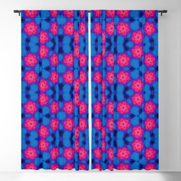 Pink Blue Pattern Abstract Art Seamless Geometry Blackout Curtain