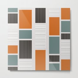 Mid Century Modern Panels Metal Print