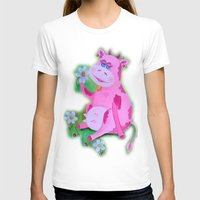 cow T-shirts featuring Cow by OLHADARCHUK
