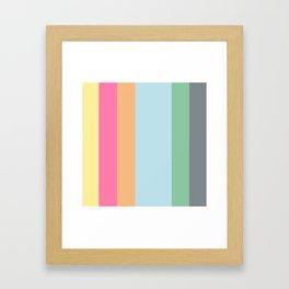 Its HOT - summer color stripes Framed Art Print