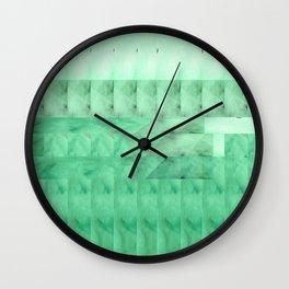 Marble Print Green Wall Clock
