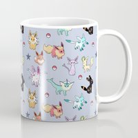 umbreon Mugs featuring Eeveeloution Pattern by Sophie Eves