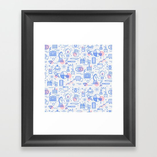 The fans pattern Framed Art Print