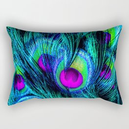 Peacock or Flower 1 Rectangular Pillow