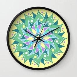 Healing Flower Mandala Wall Clock