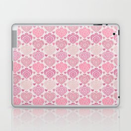 Pink Heart Valentine's Doilies Pattern Laptop & iPad Skin