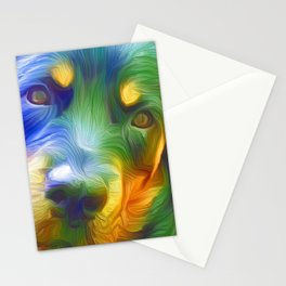 A Rottweiler Rainbow Stationery Cards