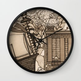 Adventure (in sepia) Wall Clock