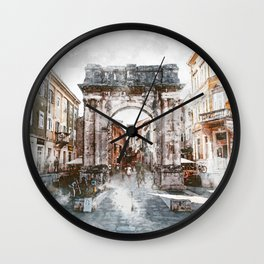 Pula, Croatia Wall Clock