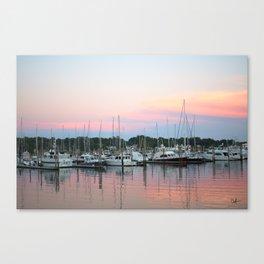 Boats In The Marina Canvas Print