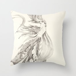 Fin and Feather Gown Throw Pillow