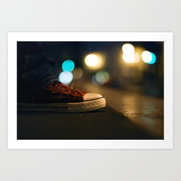 Converse All Star Night Lights Art Print