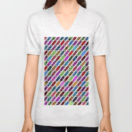 colorful ties Unisex V-Neck