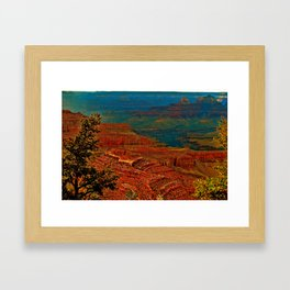 Canyon colours show through Framed Art Print