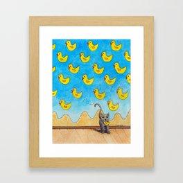 Duck Duck Cat Framed Art Print