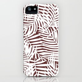 Tropical Red Leaves iPhone Case