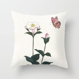 Fly by Butterfly Throw Pillow