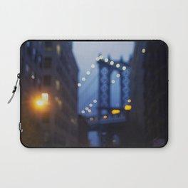 Manhattan Bridge at Night II Laptop Sleeve