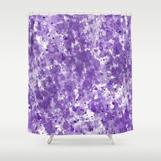 Purple Watercolor Abstract Shower Curtain