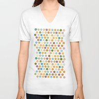 bohemian V-neck T-shirts featuring bohemian circles by studiomarshallarts